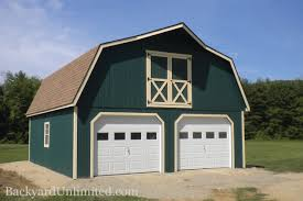 garages large storage multi car garages backyard unlimited 24 x28 two story gambrel roof garage with windows in garage doors