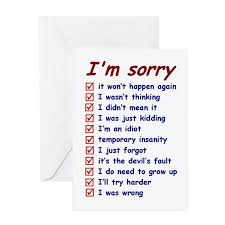 sorry greeting cards cafepress
