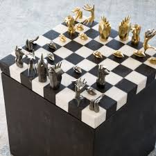 Chess Sets Dichotomy Chess Set By Kelly Wearstler