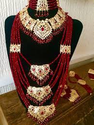 wedding necklace set red images Indian bridal jewelry set pakistani designer jewellery wedding etsy jpg