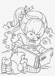 rainbow brite coloring pages bestofcoloring com