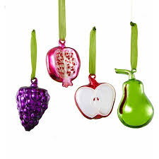 buy set of 3 farm fresh apple pear and cherry decorative glass