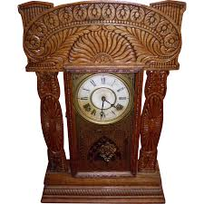 Mantel Clocks Antique Ingraham Gingerbread Mantel Clock With Key From Cameo