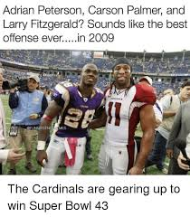 Adrian Peterson Memes - adrian peterson carson palmer and larry fitzgerald sounds like the