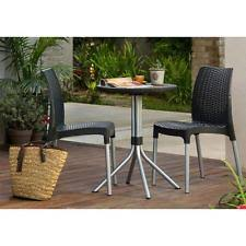 Patio Furniture High Top Table And Chairs by Bistro Table And Chairs Home U0026 Garden Ebay