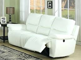 leather reclining sofa sectional sofas white electric recliner set