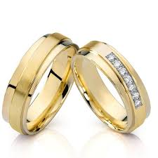 wedding rings couple images Promise rings for women wedding band unique symmetrical gold color jpg