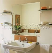JB Bathroom Sink With Large Mirror Narratives Photo Agency - Bathroom sink mirror