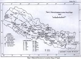 Production Map Gem Quality Mining Countries Nepal Geological Society