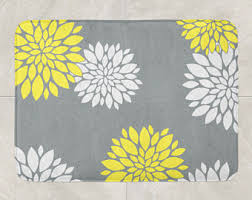 Yellow Bathroom Rugs Yellow Grey Bathroom Etsy
