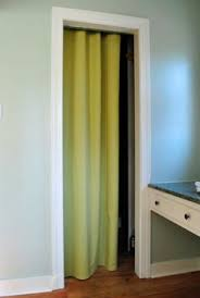 How Wide To Hang Curtains Take Out The Closet Doors And Use A Curtain Rod To Hang Two White