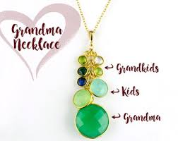 grandkids necklace gift for grandmother etsy
