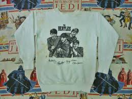 antique 1963 the beatles sweatshirt