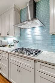glass tile backsplash kitchen pictures update tiles beige cabinets