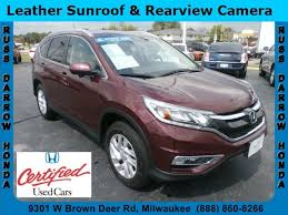 honda crv used certified used certified one owner 2015 honda cr v ex l milwaukee wi near