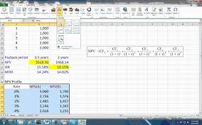 Excel Budget Spreadsheet Capital Budgeting Spreadsheet Youtube