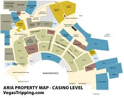 Map Of Casinos In Las Vegas by The Aria Property Map Vegastripping Com