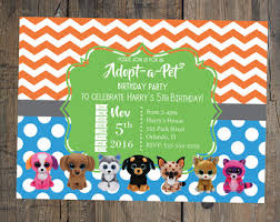 beanie boo birthday invitation birthday party