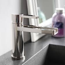 Polished Nickel Bathroom Fixtures Aqua Polished Nickel Modern Bathroom Faucet Modern Designer
