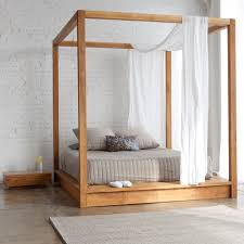 Striped Canopy by Canopy Bed Design Within Wooden Beds Tikspor