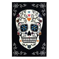 mohawk home area rugs mohawk home sugar skull rainbow 5 ft x 8 ft area rug 477677