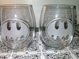 wine glass gifts custom batman sandblasted wine glass etched glass tumblers