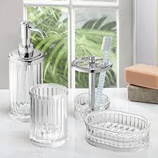 Acrylic Bathroom Accessories Mdesign Acrylic Bath Accessory Set Soap Dispenser Pump