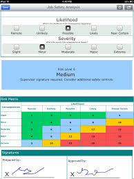jsa form job safety analysis risk assessment matrix formotus