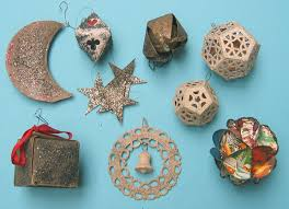 ornaments paper and spun glass paper ornaments