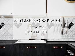 small kitchen backsplash ideas pictures stylish backsplash ideas for small kitchen ant tile triangle