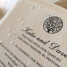 plantable wedding invitations enchanted tree plantable wedding invitations seed paper