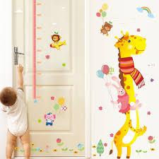 stickers girafe chambre bébé de bande dessinée girafe hauteur autocollants enfants chambre