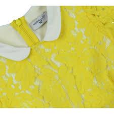 monnalisa girls yellow dress with white collar monnalisa from