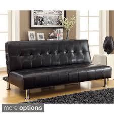 Leather Futon Sofa Dhp Broadway Premium Convertible Pillowtop Futon Free Shipping