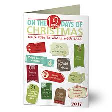 personalized christmas cards 12 days of christmas funny