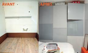 faire un placard dans une chambre monter un mur de rangements dans une chambre tutoriel