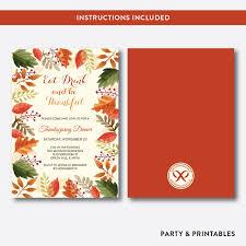 thanksgiving invitations printable thanksgiving dinner invitation editable instant download shi