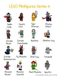 Halloween Skeleton Names Review Lego Minifigures Series 14 Monsters