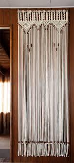Door Curtains Bead Fringed Door Curtain Macrame For A Door With Tie Backs