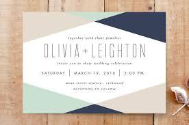 minted wedding invitations minimal mod wedding invitations by reed walker minted