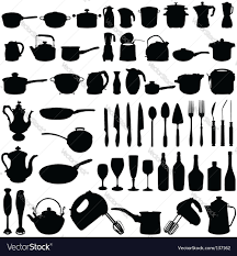 Free Silhouette Images Kitchen Utensils Silhouette Vector Free Tools Image Throughout Design