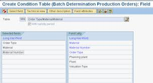 sap production order table sap batch determination saps word we sap for your cause