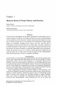 writing an abstract for a paper work teams past present and future springer inside