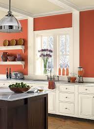 choisir couleur cuisine quelle couleur cuisine choisir 55 idées magnifiques orange brûlé