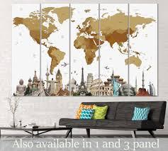 Chicago Map Wall Art by Modern Wall Art For Home U0026 Office Decor Zellart Canvas Prints