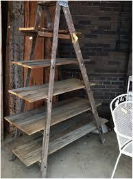 Bookcase Ladder Five Tier Antique Black Ladder Shelf Corner Shelf Furniture Design