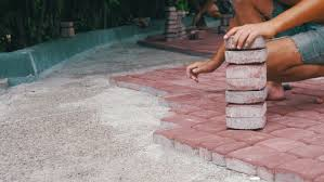 Laying Patio Slabs Paving Slabs Stock Footage Shutterstock