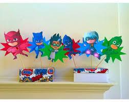 pj mask party decorations etsy