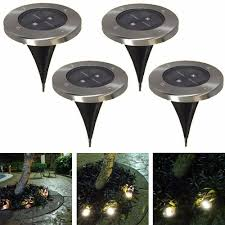 solar garden path lights tamproad pack of 5 led underground night lights solar powered buried