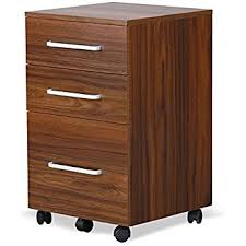 Mobile File Cabinet Devaise 3 Drawer Wood Mobile File Cabinet Letter